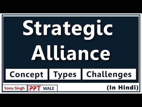 STRATEGIC ALLIANCE IN HINDI | Concept, Types, Challenges | Strategic Management | BBA/MBA/Bcom | ppt