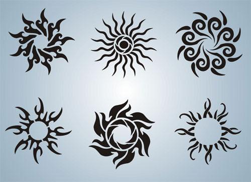 Tattoo : Sun Stencils (Tattoo01)