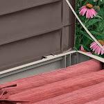Suncast 103 Gallon Capacity Resin Outdoor Patio Storage Deck Box, Mocha (2 Pack)