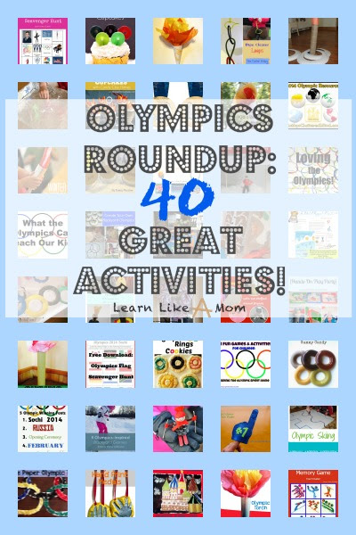 Olympics Roundup: 40 Great Olympics Activities! - Learn Like A Mom!