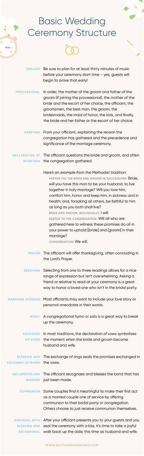 The Basic Wedding Ceremony Structure   Tying the Knot