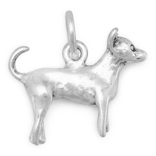 Dog Breed - Chihuahua Charm Sterling Silver - Made in The USA