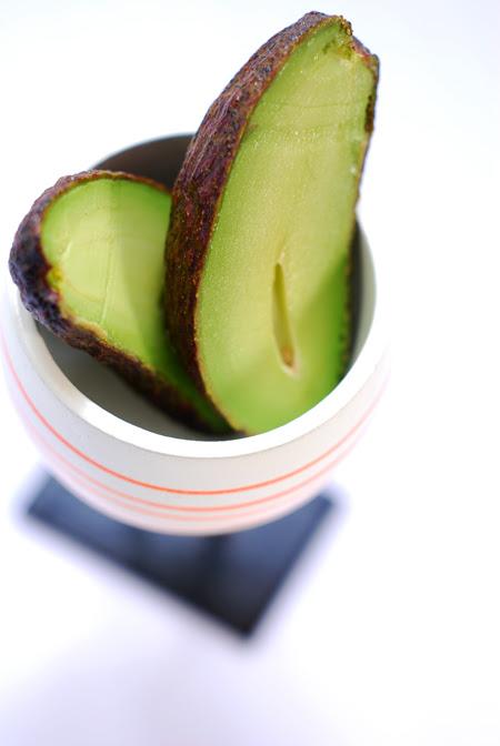 cocktail avocado - halved ©