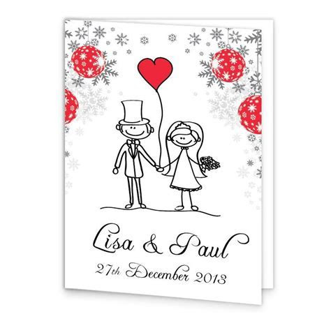 Christmas Stick couple Mass Booklet Cover   Loving Invitations
