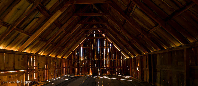 The barn inside