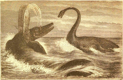 Ichthyosaurus and Plesiosaurus