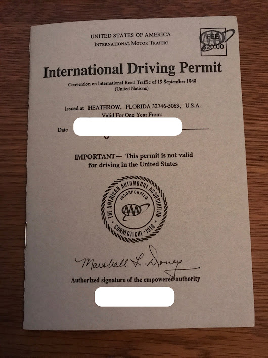 How to Get An International Drivers License / Permit (IDP) and Where You May Need One - The Reward Boss