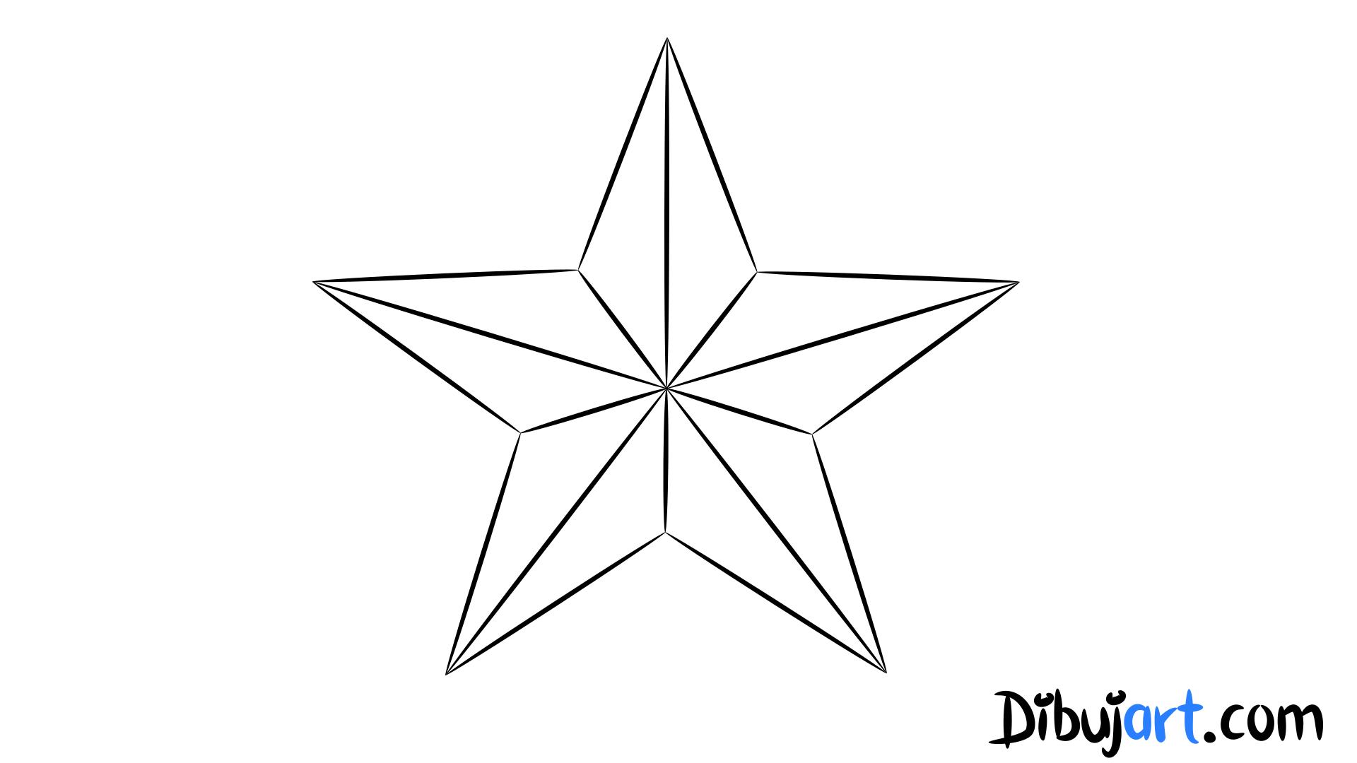 Cómo Dibujar Una Estrella Paso A Paso Dibujartcom