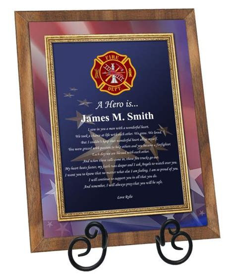 Fire Awards Firefighter Recognition Plaques Gifts Husband