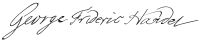George Frideric Handel's signature