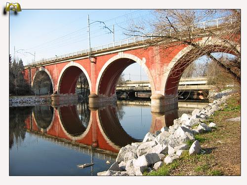 Puente de los Franceses sobre el río Manzanares. Madrid