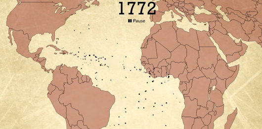 The Atlantic Slave Trade Visualized in Two Minutes: 10 Million Lives, 20,000 Voyages, Over 315 Years