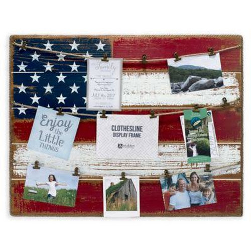 Malden 21 X 27 American Flag Frame Collage Red White Blue