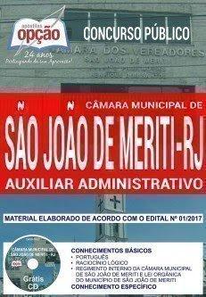 Apostila Concurso Câmara de São João do Meriti 2018 | AUXILIAR ADMINISTRATIVO