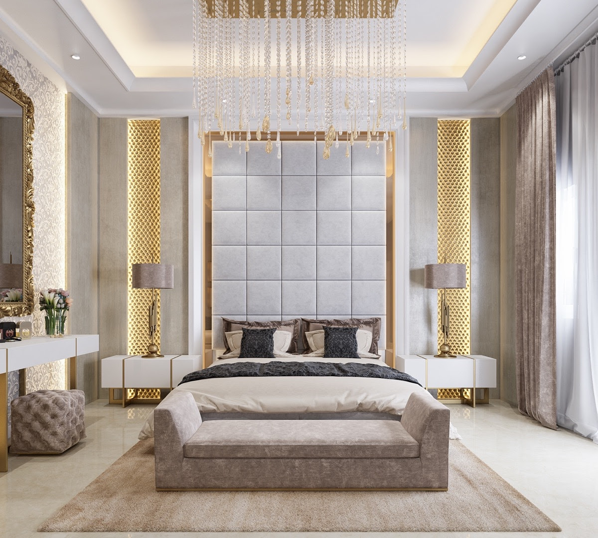 3 Kind Of Elegant Bedroom Design Ideas Includes a ...
