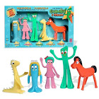 The Original Gumby And Friends Bendable Poseable 5-piece Collectible Set