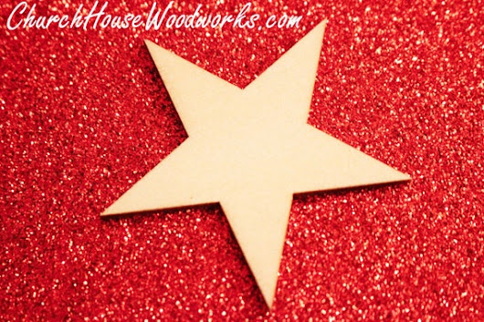 Christmas Wood Star Ornaments by ChurchHouseWoodworks on Etsy