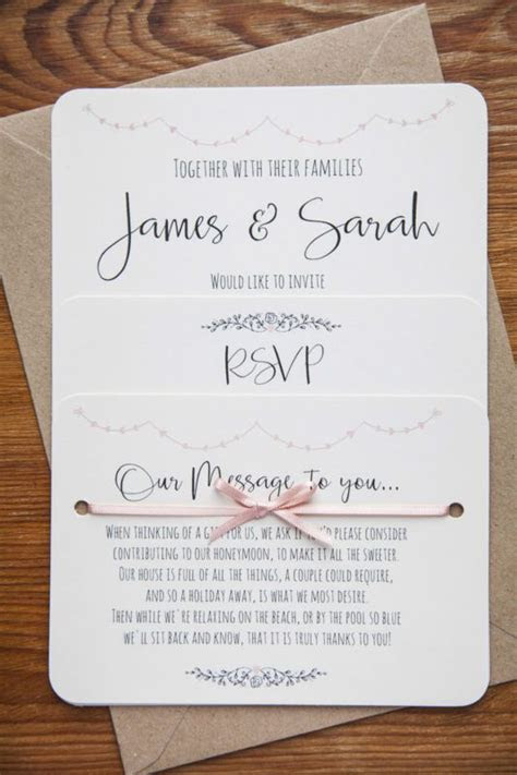 vintage shabby chic personalised wedding invite day