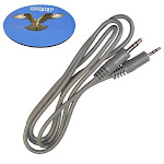 HQRP 3.5mm to 2.5mm Audio Cable for JBL Synchros S400BT, Synchros E40BT Bluetooth Headphones Replacement + HQRP Coaster