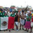 Competidores tarahumaras en los Juegos Mundiales de los Pueblos Indígenas. Foto: Especial