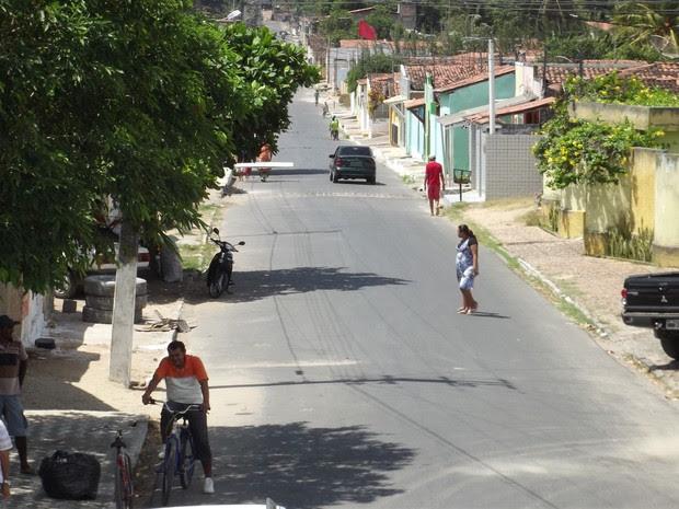 Bairro São Geraldo, em Ceará-Mirim (Foto: Jocaff Souza/G1)