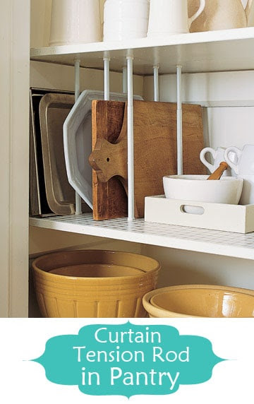 tension rod pantry dividers