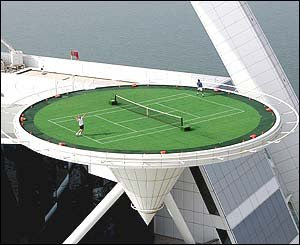 Burj Al Arab Hotel Dubai Flying Tennis Court Pictures Gallery