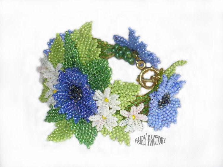 Dream Of a Summer Night -   Cuff/Bracelet PATTERN - FairyFactory