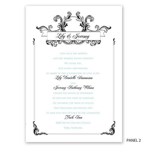 Victorian Flourish Invitation   Invitations By Dawn