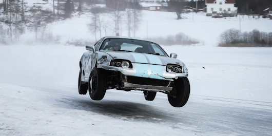 Watch These High-Speed Supras Catch Air While Drifting on Ice
