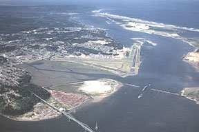 Aerial view of Coos Bay Oregon