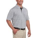 Bollé Bolle Men's Short Sleeve Performance Polo, Gray, Large