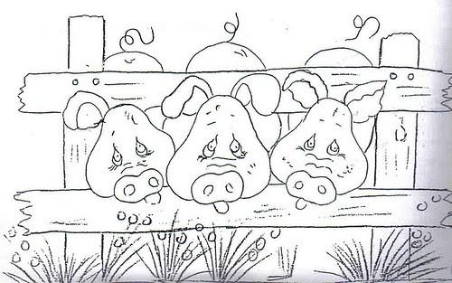 Porquinhos rosa by Vera Arte em Giz