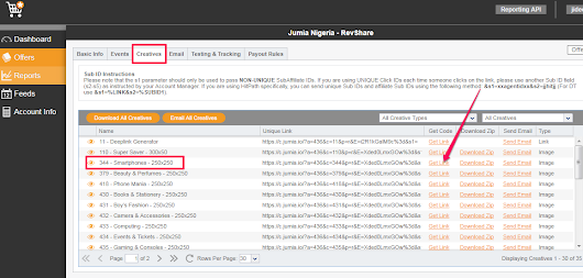 Jumia Affiliate Program : How To Get Ads Banners and Affiliate Links – OgbongeBlog