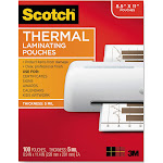 Scotch Lamination pouches, 226 x 292 mm, Clear - 100-pack