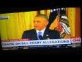 President Obama Blasts Bill Cosby On Rape Allegations