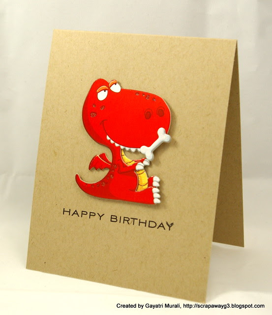 Dinosaur card 4
