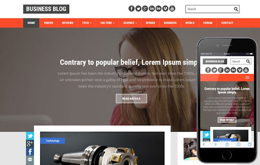 Business Blog a Blogging Category Flat Bootstrap Responsive Web Template - w3layouts.com
