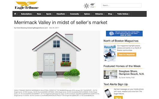 North Andover Record-Breaking Seller's Market Spring 2017 - MVRE