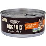 Castor & Pollux Organix Grain Free Canned Cat Food Organic Chicken Recipe Pate 5.5 oz.