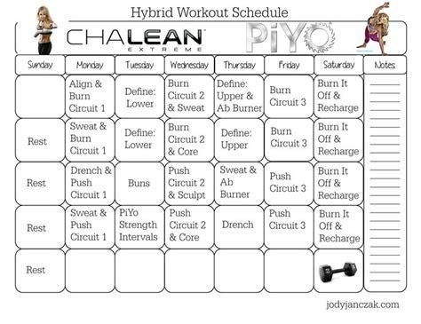 images  beachbody workout calendars