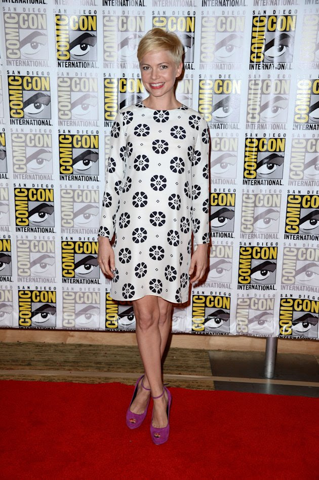 "Michelle Williams in Giulietta at the 2012 Comic-Con "" Oz The Great and Powerful"" panel"