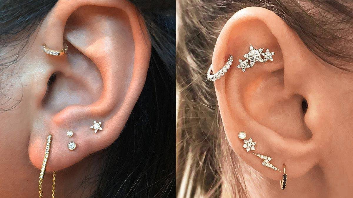 2018 Curated Cluster Ear Piercing Trend Cosmoph