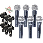 Dynamic Vocal Microphones 6 PACK - Stage Singing Music Recording Home Studio Mic