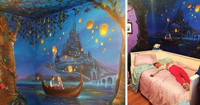 Esta mulher fez um incrível mural da Disney no quarto da filha