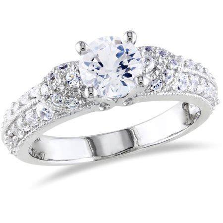 Miabella 1 2/3 Carat T.G.W. Created White Sapphire