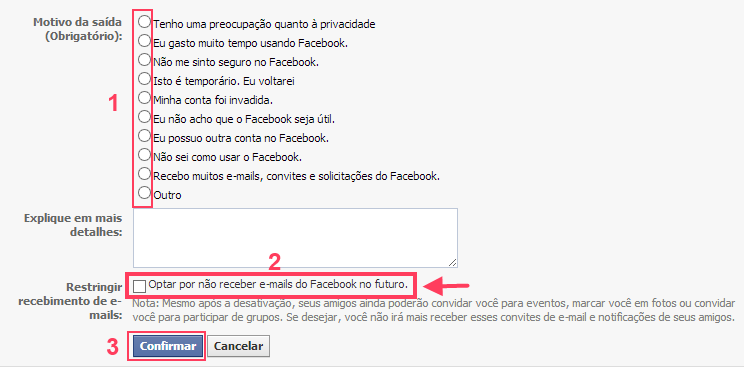 motivo para sair do Facebook
