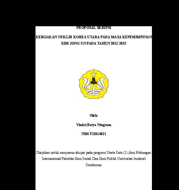 Contoh Proposal Skripsi Hubungan Internasional