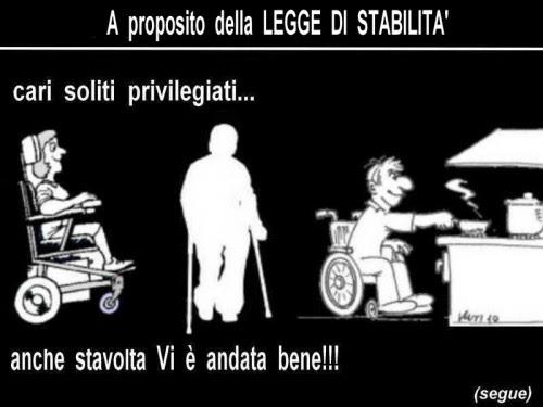 satira,attualità,notizie,legge di stabilità,politica,pensioni di invalidità,pensioni di guerra,intervento del quirinale,