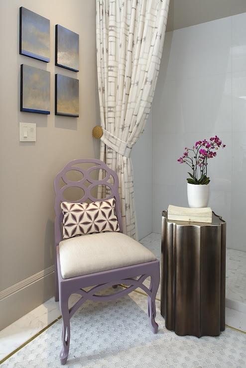 Purple Chair - Contemporary - bathroom - Artistic Designs for Living